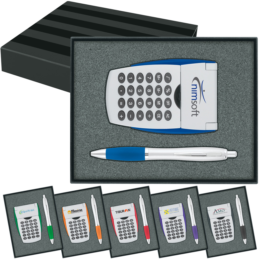 Calculator/Ballpoint Pen Gift Set
